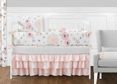 Sweet Jojo Pink, Baby or Toddler Crib for Floral