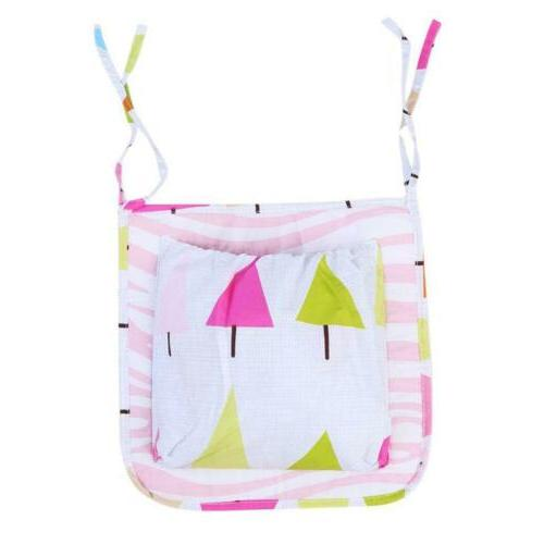 Baby Bed Hanging Storage Bag  Toy Diaper Pocket For Crib Bed