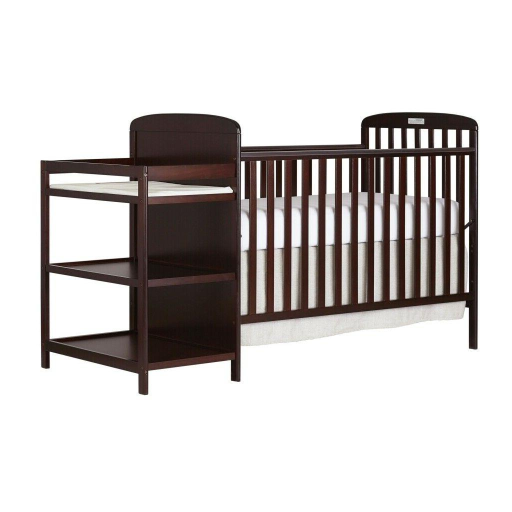 changing table combo furniture cherry