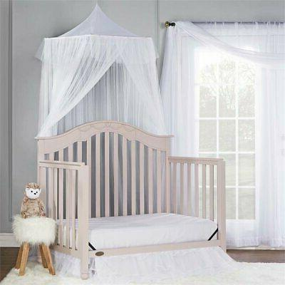 Dream On Me Charlotte 5-in-1 Convertible Crib - Blush Pink