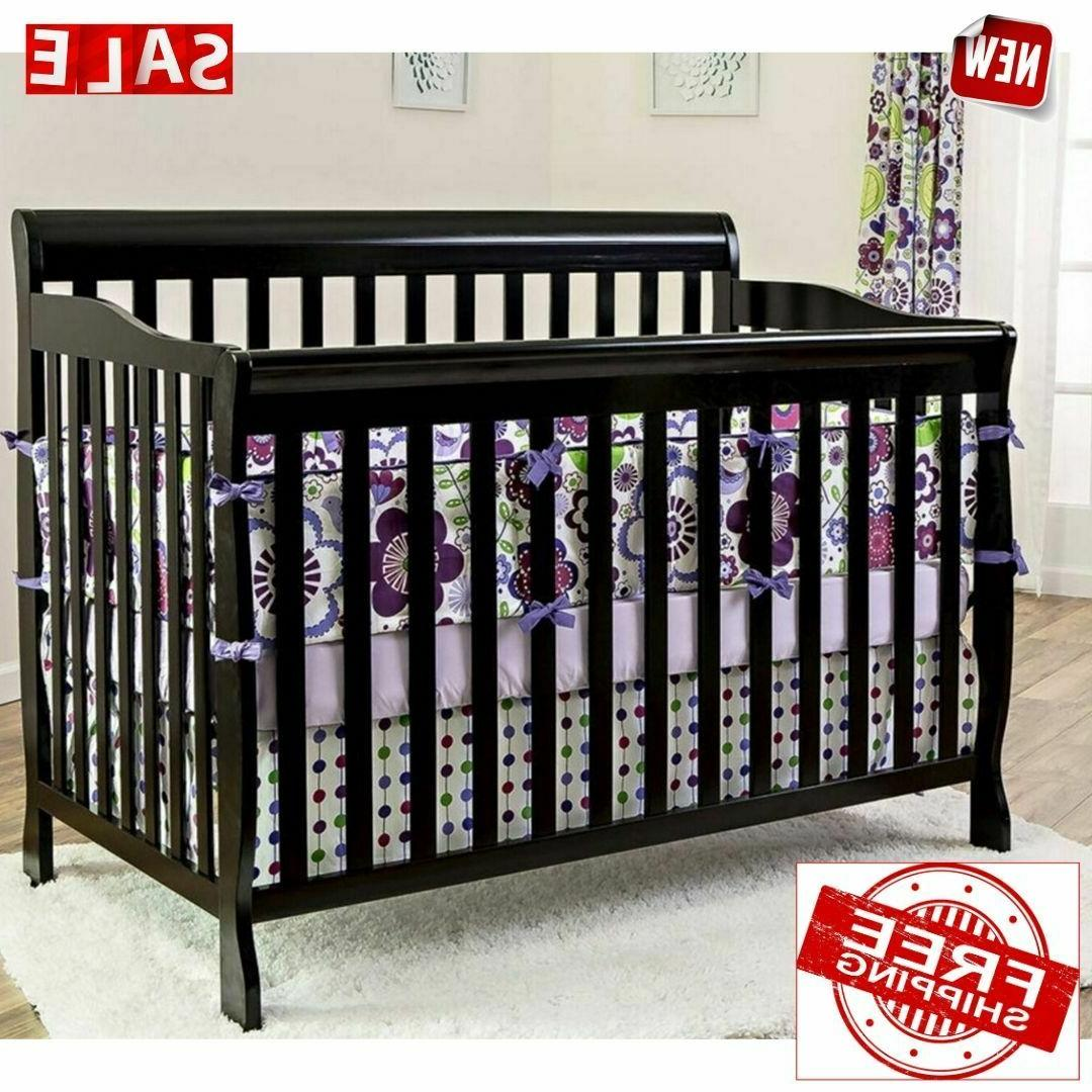 convertible baby bed 1 black