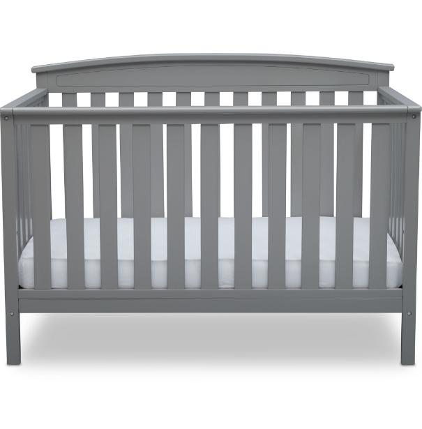Convertible in 1 Full Crib Gray Nursery Bedroom Furniture New!