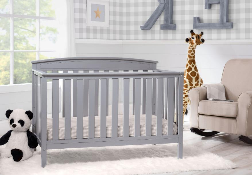 Convertible Baby in 1 Size Crib Gray Furniture