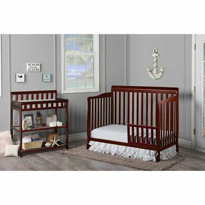 CONVERTIBLE BABY BED FULL SIZE NURSERY BEDROOM FURNITURE