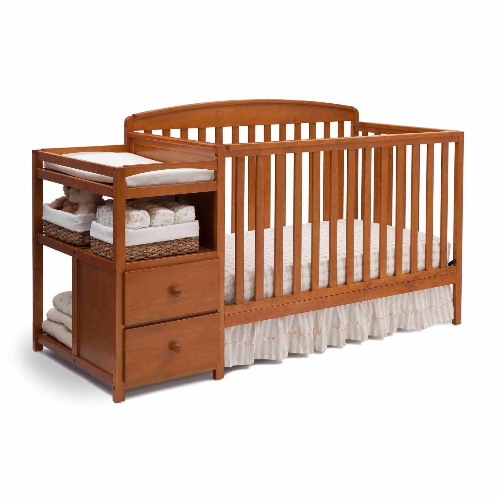 Convertible Baby Crib with Changing Table and Storage Functional Nursery  Daybed