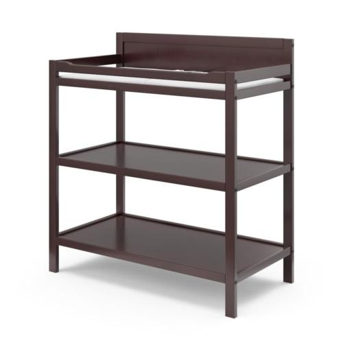 Espresso Changing Table Shelves Unit