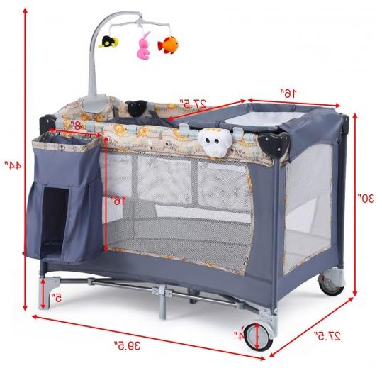 Folding Baby Infant Cot Toys Changer
