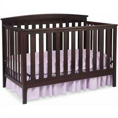 gateway 4 in 1 convertible crib dark