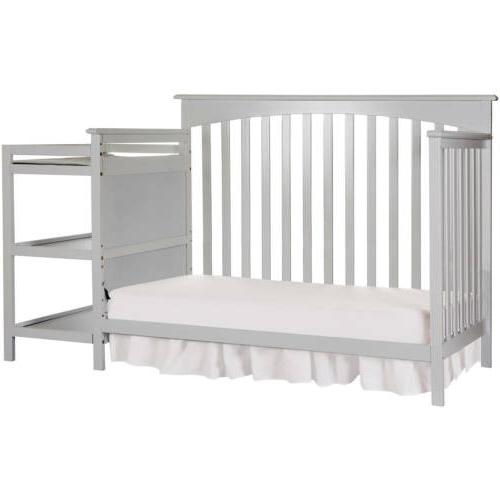 Gray Convertible 5-in-1 Baby Toddler Nursery Changer