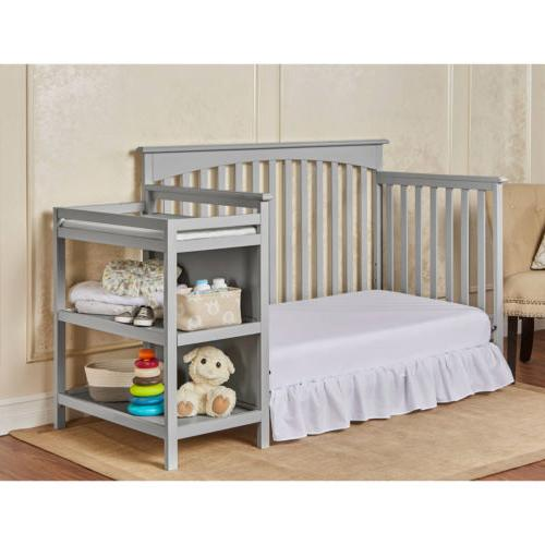 Gray Grey Convertible Baby Toddler Changer