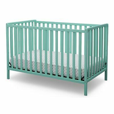 Delta Heartland Convertible Crib, Aqua Green