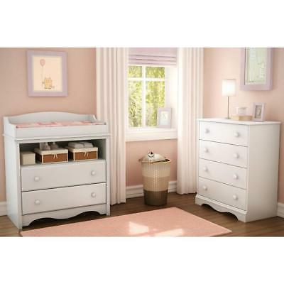South Shore 2-Drawer Classic White Changing Table,