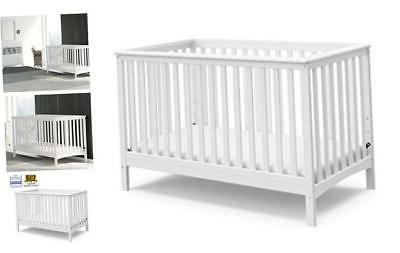hillcrest fixed side convertible crib white easily