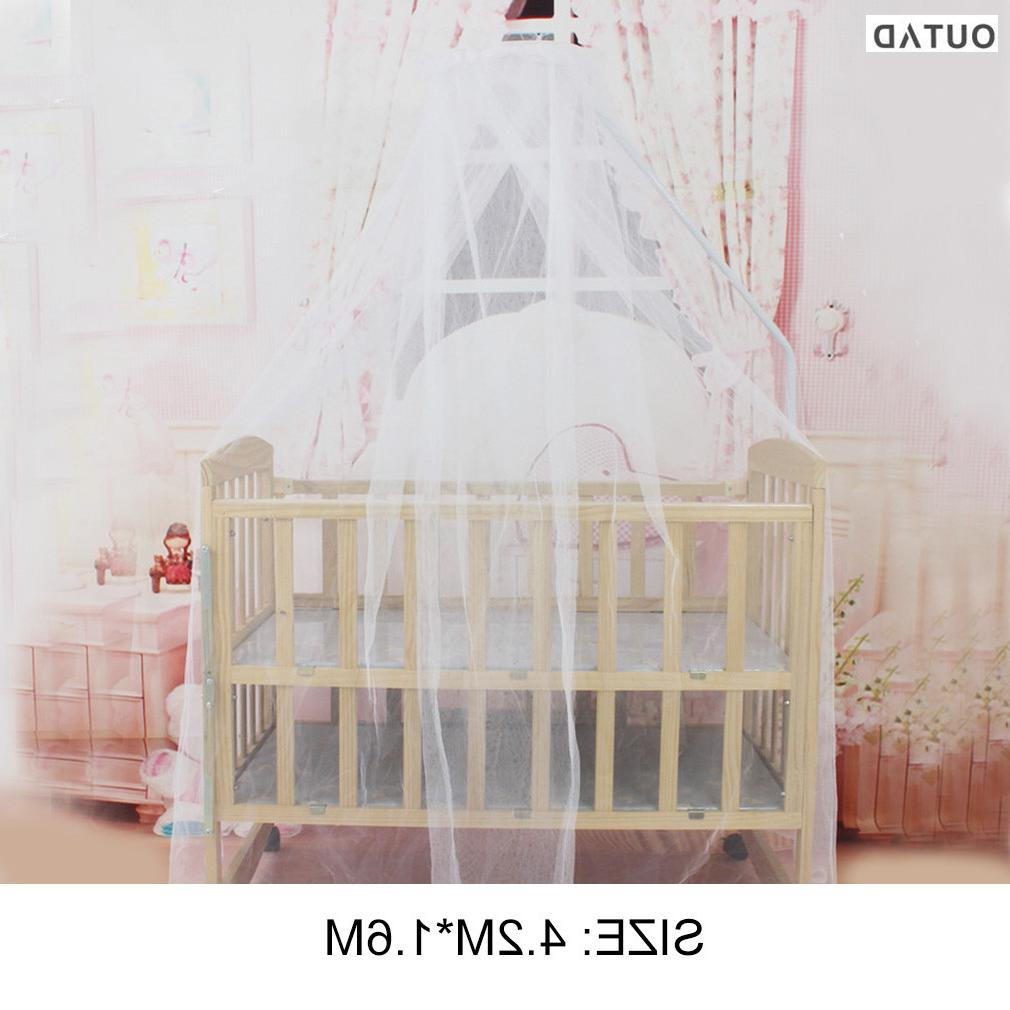Hot! OUTAD Bedding <font><b>Crib</b></font> Size Round Toddler <font><b>Baby</b></font> Bed Mesh Hung Dome Curtain Summer