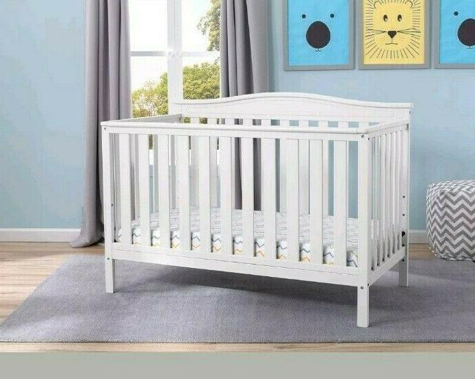 Delta Convertible Baby Crib, White
