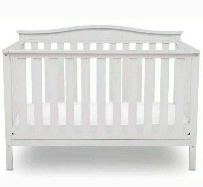 Delta Children Independence Convertible Baby White FREE