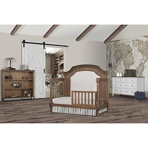 Evolur Julienne in 1 Convertible Crib, Toffee with Linen
