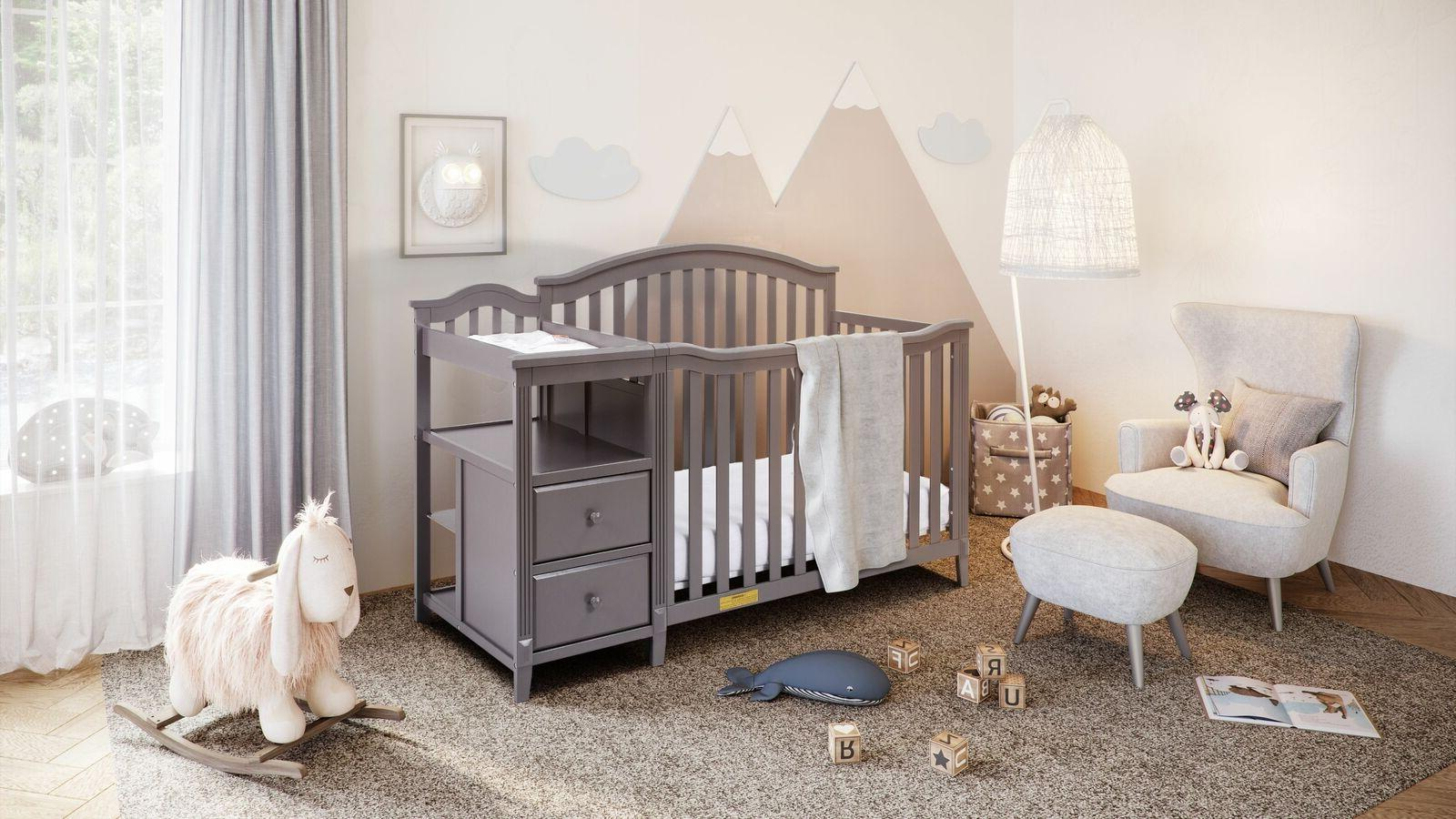 Athena 4-in-1 Baby Changer Furniture Gray