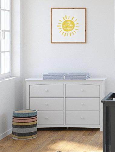 Universal Dresser, White, Bedroom with Drawers, Composite Construction, Ideal Toddlers