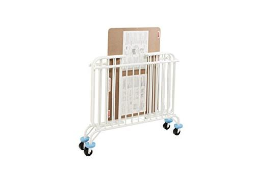 L.A. Baby Deluxe Folding White