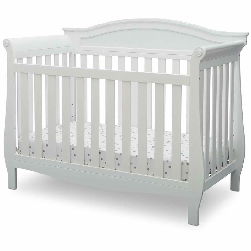 Delta Children Lancaster 4-In-1 Convertible Baby Crib Bianca