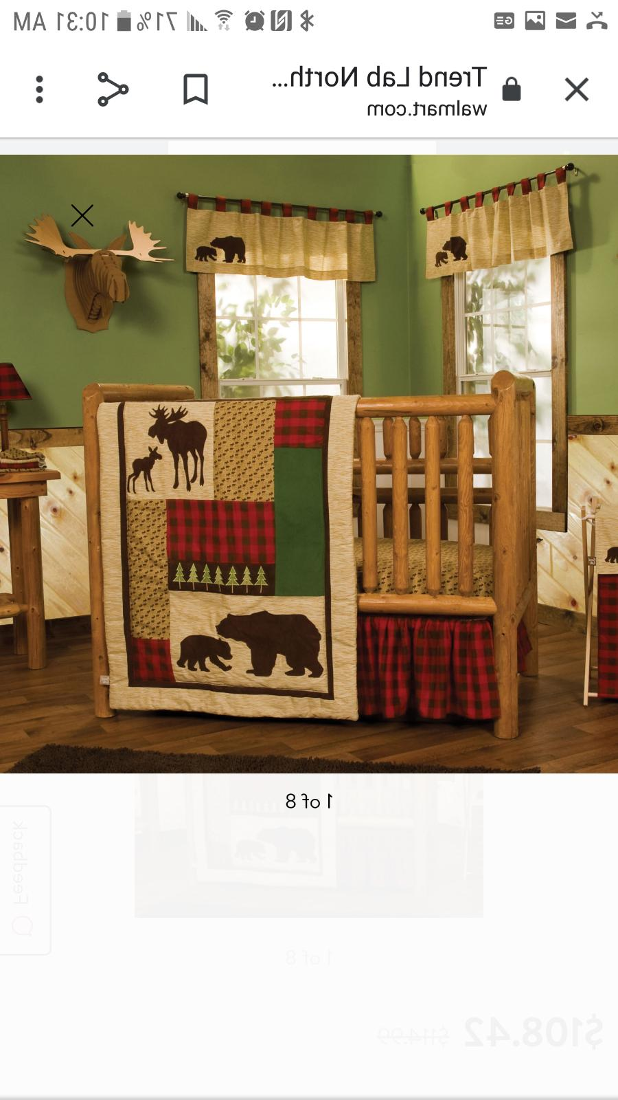 Trend Lab Northwoods Baby Nursery Crib Bedding 3 PC Set