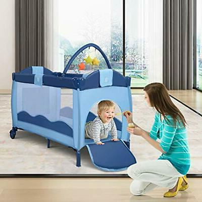 Nursery Center Crib Portable Bassinet Bed