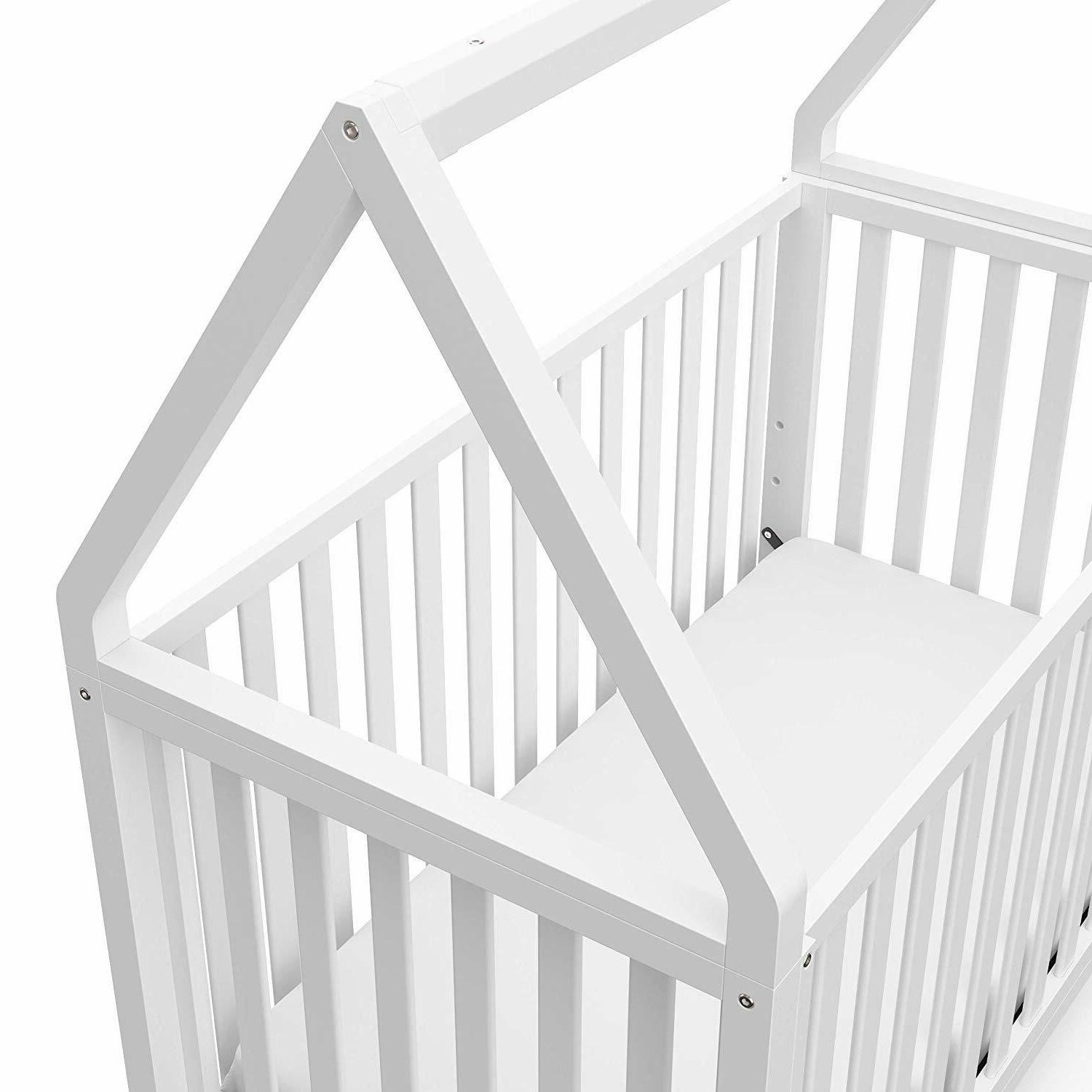 Storkcraft Orchard 5-in-1 Convertible Crib - White