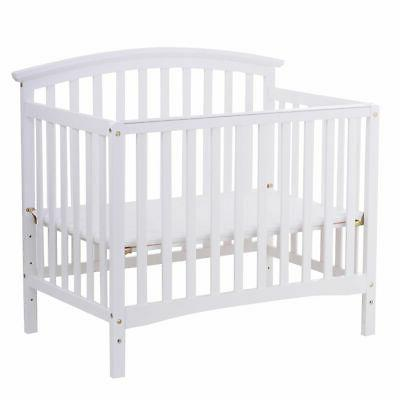 Pine Wood Bed Convertible Nursery Infant Newborn Coffee/ White