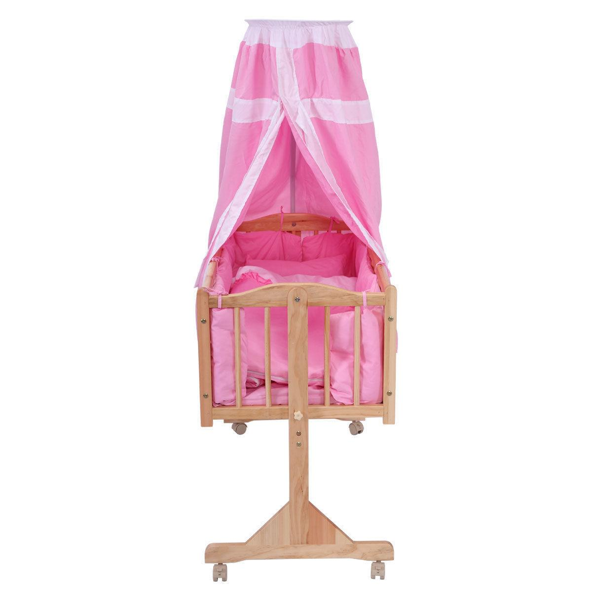Pine Wood Baby Toddler Bed Furniture Safety