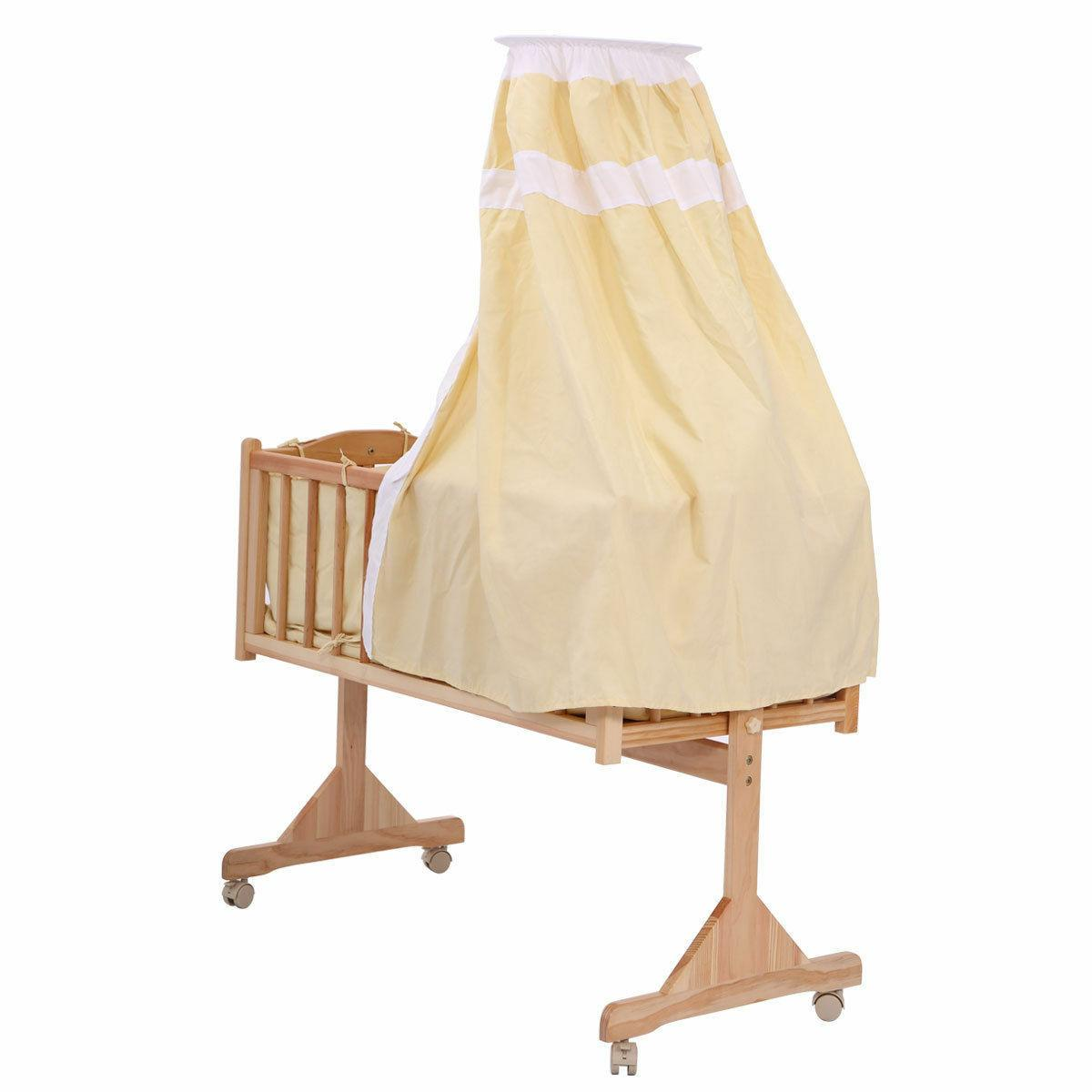 Pine Newborn Toddler Cradle Furniture