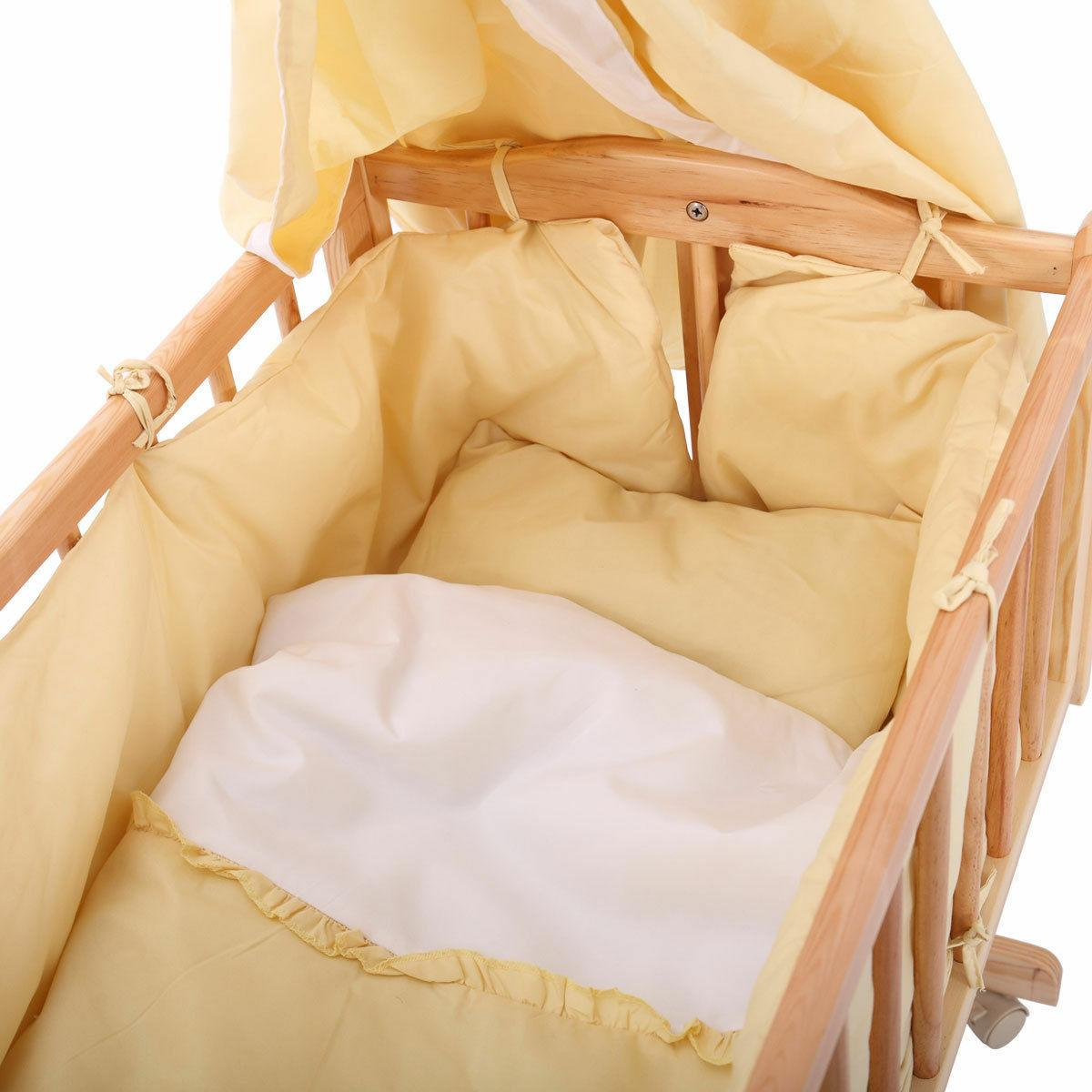 Pine Wood Newborn Toddler Bed Cradle Furniture