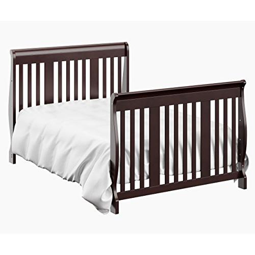Storkcraft Side Crib and to Day Bed Three Mattress