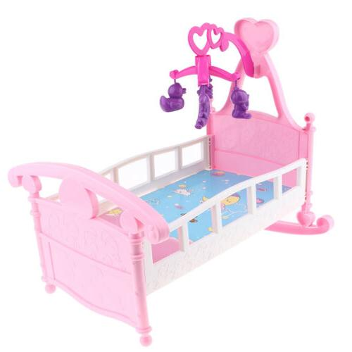 Simulation Baby Doll Bed Cribs Rocking Cradle Toys For Mellc