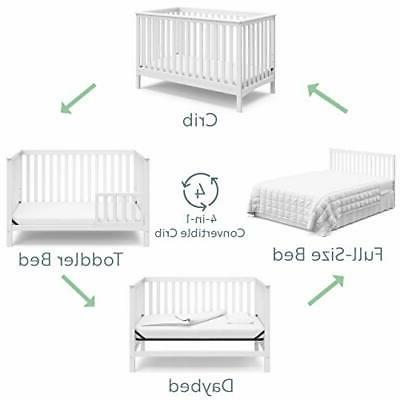 Crib, White, Converts to Toddler