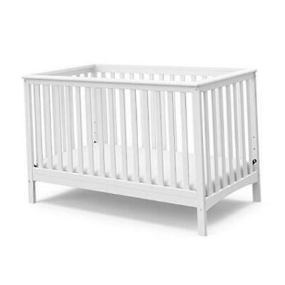 storkcraft hillcrest fixed side convertible crib white