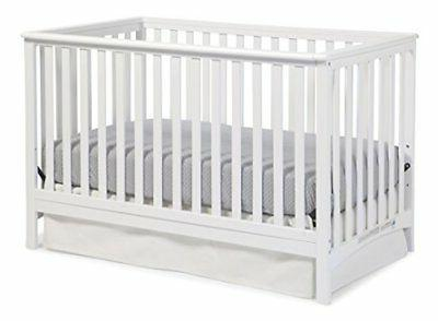 Storkcraft Hillcrest Fixed Side Convertible Crib, White, Eas