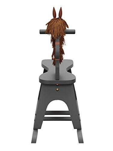 Storkcraft Wooden Gray, Chair Ride Toy for Toddlers and Small for & Playroom