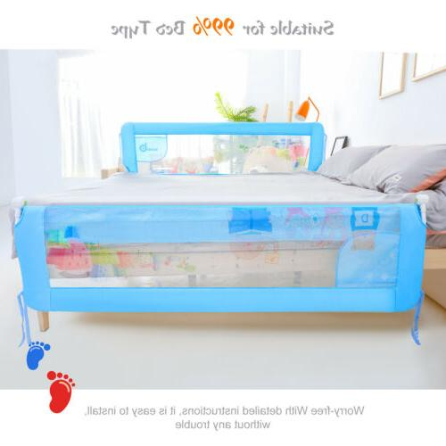71''/1.8m Baby Bed Bedrail Crib Guard Safety Swing