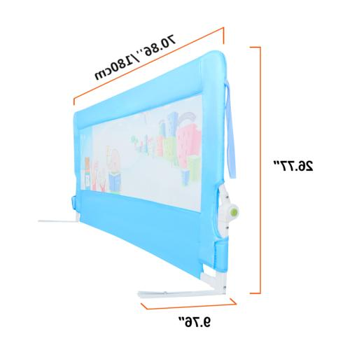 71''/1.8m Children Toddlers Bed Guard Safety