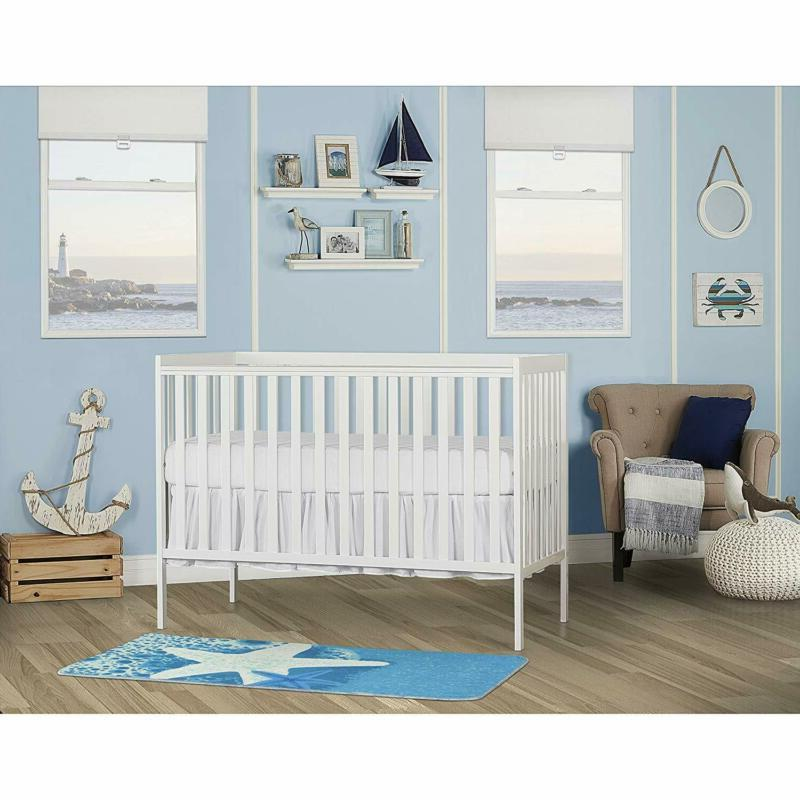 synergy 5 in 1 convertible crib white