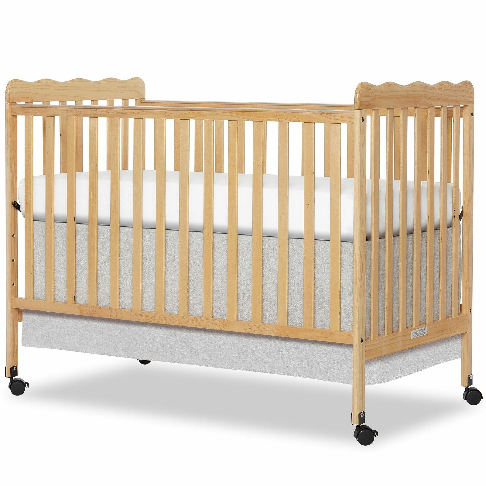 Convertible Baby Crib Nursery Day Bed Infant Playpen Toddler Mobile
