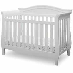 Delta Children Lancaster 4-in-1 Convertible Baby Crib, Bianc