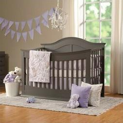 Meadow 4-in-1 Convertible Crib, Slate