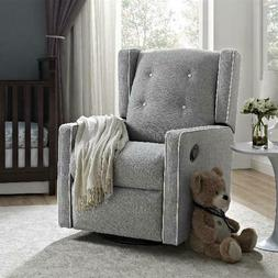 Baby Relax Mikayla Swivel Gliding Recliner, Soft-to-the-touc