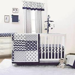 Navy Whale Blue Nautical Baby Crib Bedding - 20 Piece Nurser