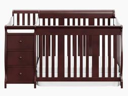 NEW Stork Craft Portofino 4 in 1 Fixed Side Convertible Crib