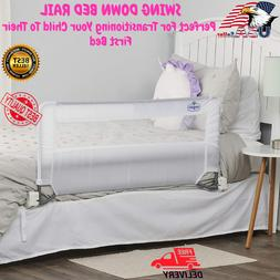 Swing Down Bed Rail Guard, with Reinforced Anchor Safety Sy