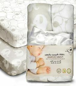 100% Organic Cotton Sheets for Pack 'n Play and Other Portab