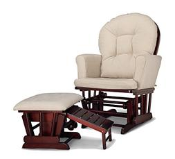 Graco Parker Semi-Upholstered Glider & Nursing - Cherry with
